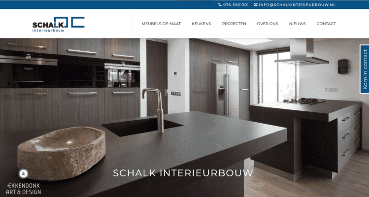 Website Project Schalk Interieurbouw Breda